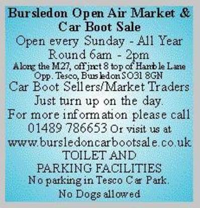 Bursledon Car Boot Sale Market