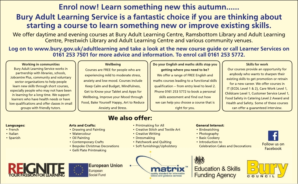 BURY ADULT LEARNING CENTRE